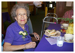 Happy Resident in our Senior Amenities Aurora, IL